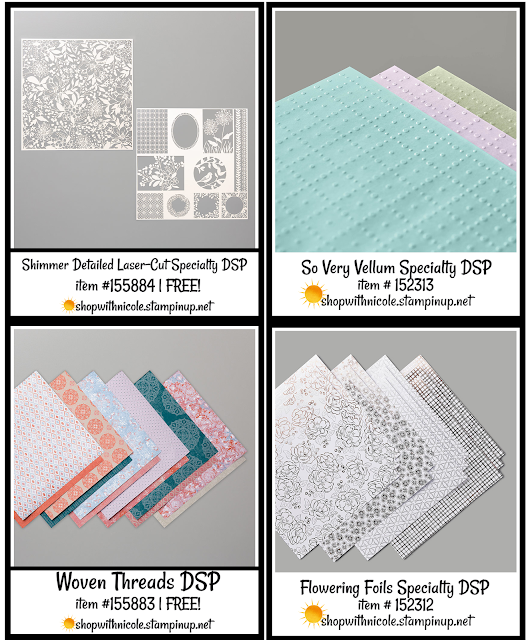 level 1 stampin' up! saleabration designer series paper