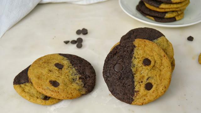 Galletas brownkies, mitad brownies y mitad cookies