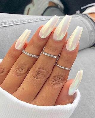 summer nails desings white