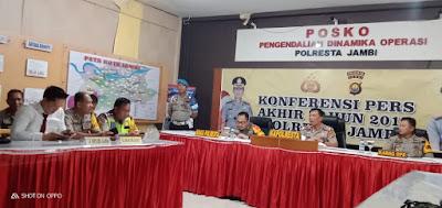 Kapolresta Jambi: Angka Kriminalitas Dikota Jambi Turun Selama Tahun 2019