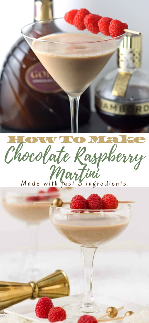 Chocolate Raspberry Martini  #healthydrink #easyrecipe #cocktail #smoothie