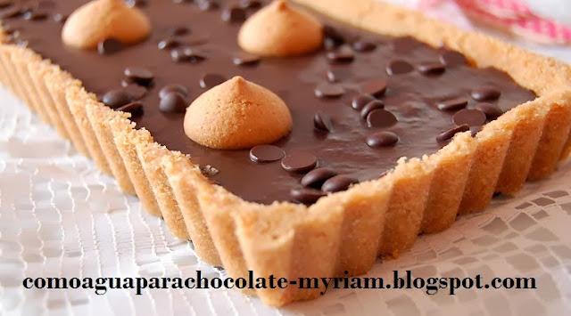Tarta facil de chocolate sin horno
