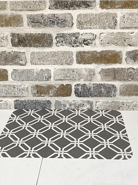 Peel and stick brick backdrop
