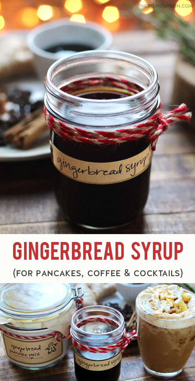 In the mood for a sweet & spicy treat? Fix a batch of gingerbread syrup on the stovetop in about 40 minutes with simple ingredients like water, sugar, fresh ginger, molasses, and whole spices. Drizzle the syrup on pancakes or waffles, use it to make a gingerbread latte, or stir it into fall & winter cocktails for a warming & fragrant kick. (gluten-free, grain-free, dairy-free & vegan)