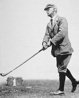 Golfer John Ball circa 1913