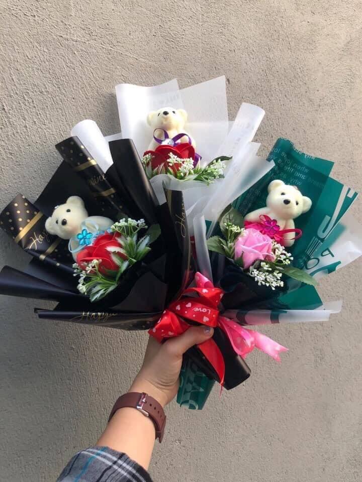 Hoa hồng gấu 1 bông