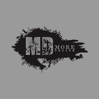 MD More Design Black Grunge Logo Free Download Vector CDR, AI, EPS and PNG Formats