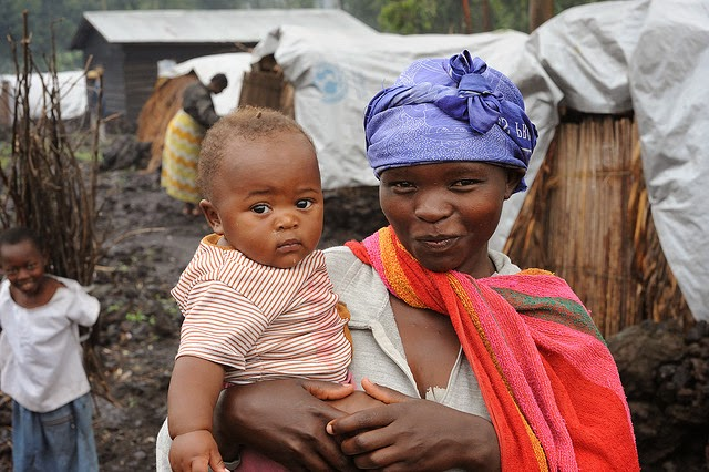 African Mother and child in Mugunga Rwanda