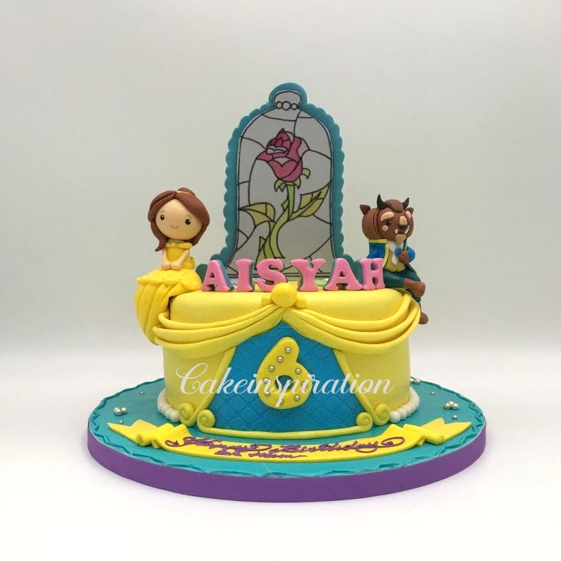 The Sensational Cakes New Enchanted Rose 3d cake Beauty and the