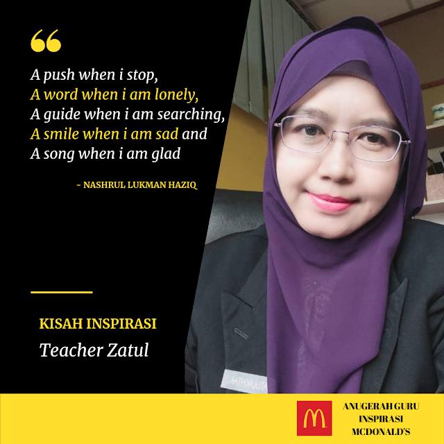 Anugerah Guru Inspirasi McDonald's 2021 - Kisah Inspirasi Cikgu Zatulakhtar binti Yakop