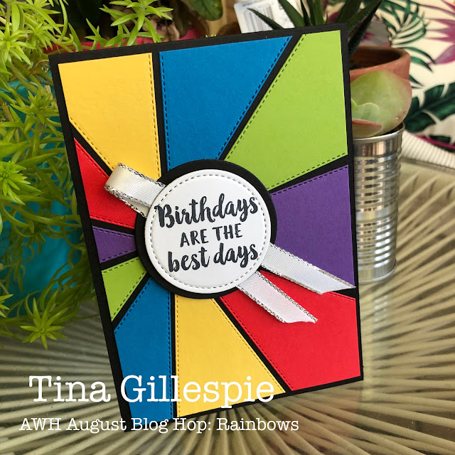 scissorspapercard, Stampin' Up!, Art With Heart, Creative Showcase, Stitched Triangles Dies, Stitched Shapes Dies, Beautiful Friendship, Itty Bitty Birthdays, Rainbow Card