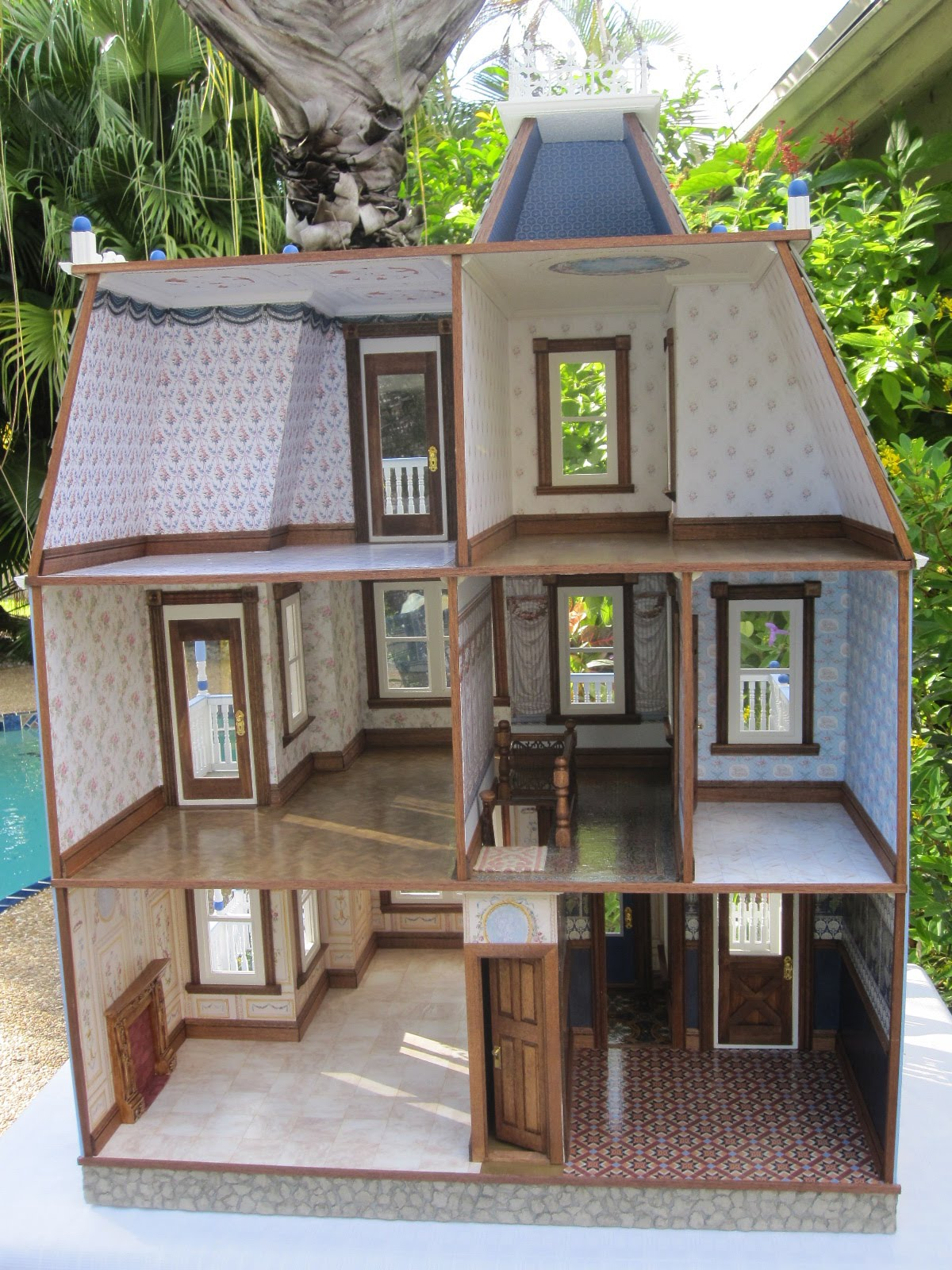 Dollhouses By Robin Carey The Glenview Drive Blue
