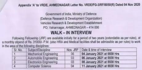 Junior-Research-Fellow-Recruitment-In-DRDO
