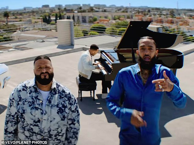 Nipsey Hussle makes last music video appearance and DJ Khaled says 100% of proceeds will go to kids
