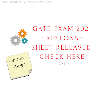 GATE EXAM 2021 : Response Sheet Released, Check Here