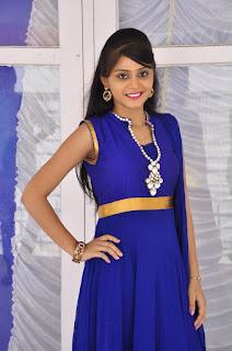 Actress Harisha Krishna Stills in Beautiful Blue Chudiddar  0015.jpg