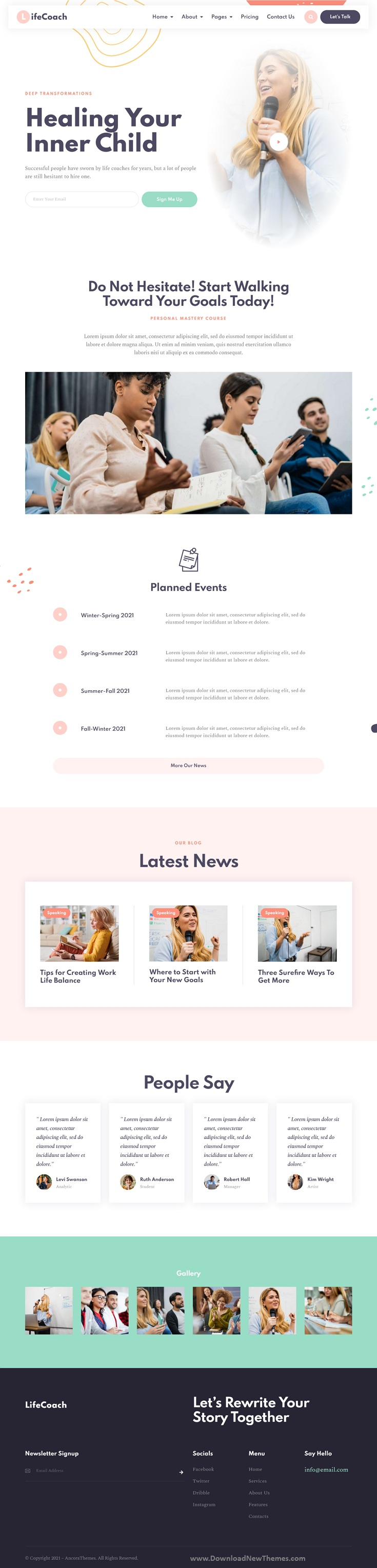 Life Coach Mentor & Trainer Elementor Template Kit