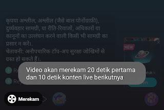 Cara Rekam dan Screenshot Siaran Lansung di Bigo Live