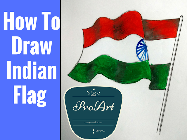 how to draw indain flag