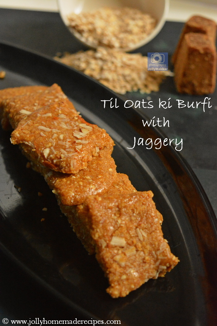 Til Oats ki Burfi with Jaggery