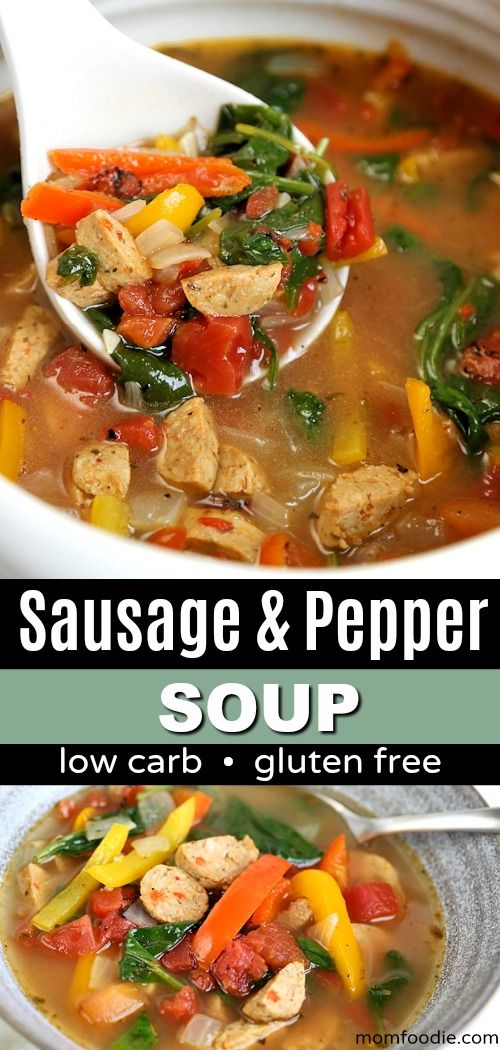 LOW CARB-Sausage and Pepper Soup Recipe
