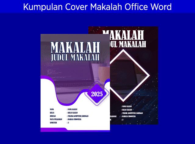 Kumpulan Contoh Jilid Cover Makalah Office Word Keren Dan Menarik