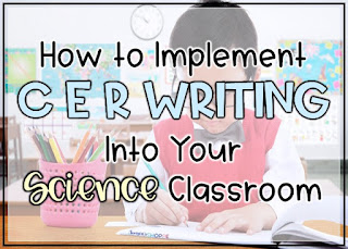 Getting started with CER in Your grade 4, 5, 6 science classroom