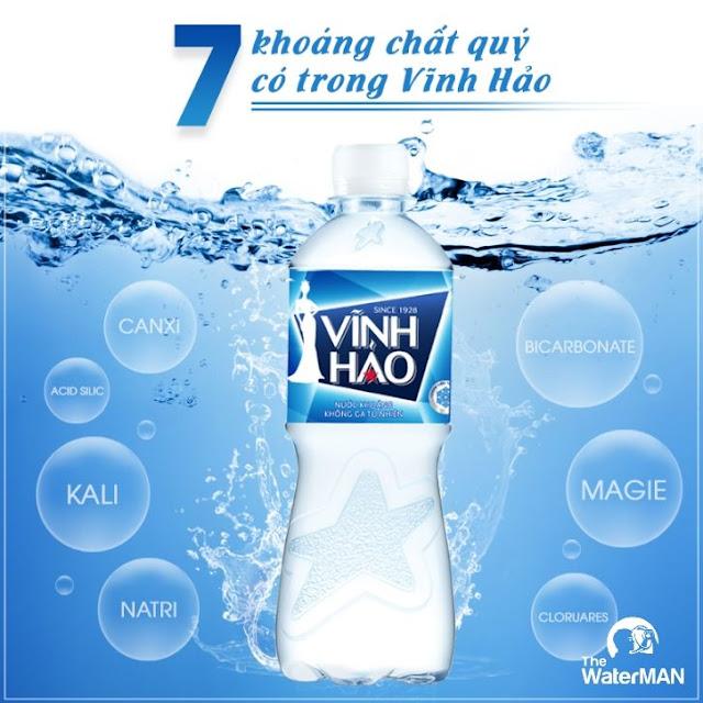 Nước khoáng Vĩnh Hảo chai 350ml