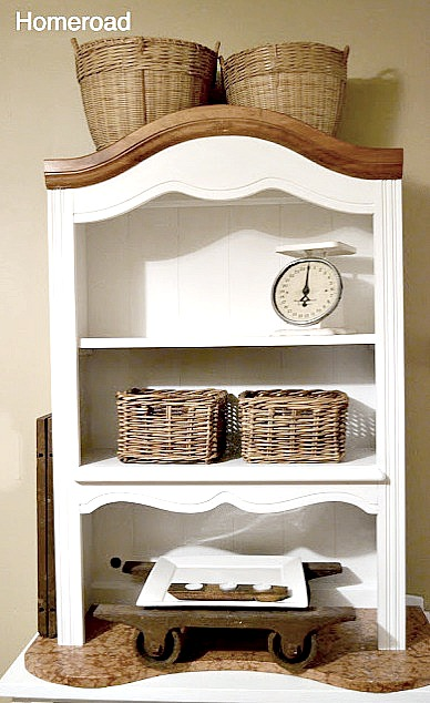 small farmhouse hutch for display