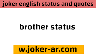 46 Best Brother Status, wishes and Short SMS for facebook in english 2021 - joker english