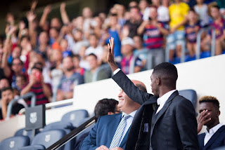 Barcelona introduces Othman Dembli to fans at Camp Nou