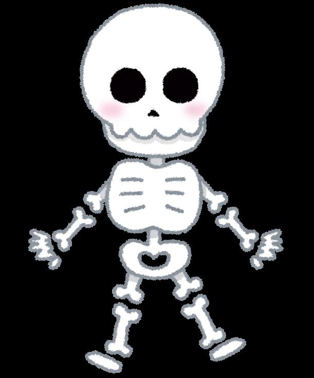 骸骨のキャラクターのイラスト | かわいいフリー素材集 いらすとや