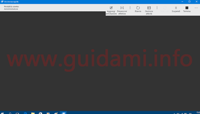 Windows 10 app Assistenza rapida finestra controllo PC da remoto
