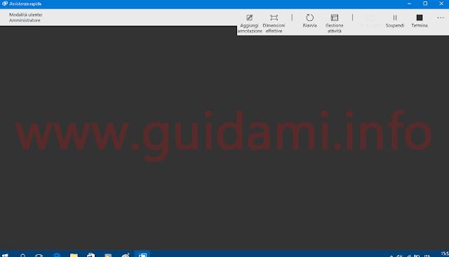 Windows 10 app Assistenza rapida finestra controllo PC da remoto