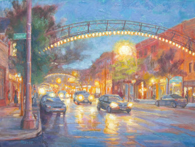 Columbus Short North Oil Painting by Robie Benve