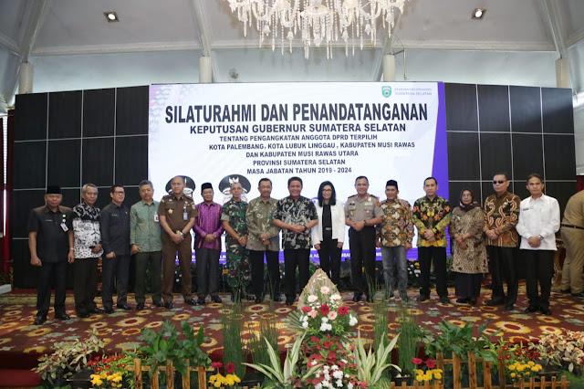 Herman Deru Bangun Kordinasi dengan DPRD MLM dan Palembang