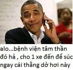 Ảnh chế Obama comment facebook