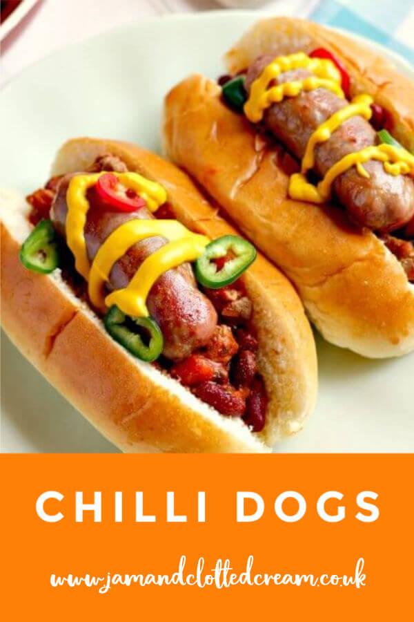 Deliciously meaty Chilli Dogs #chillidogs #chilli #hotdogs