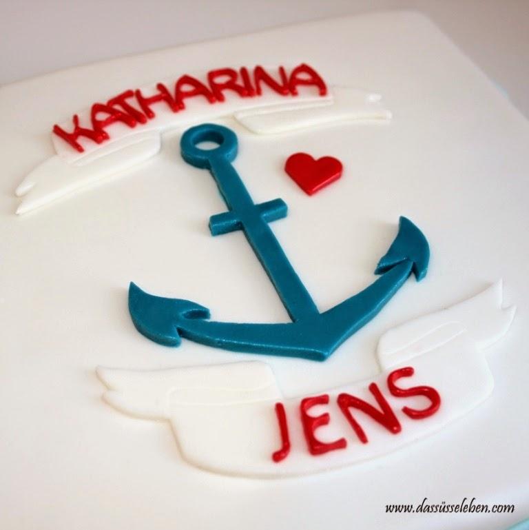 Rezept Maritime Hochzeitstorte Mit Anker Das Susse Leben