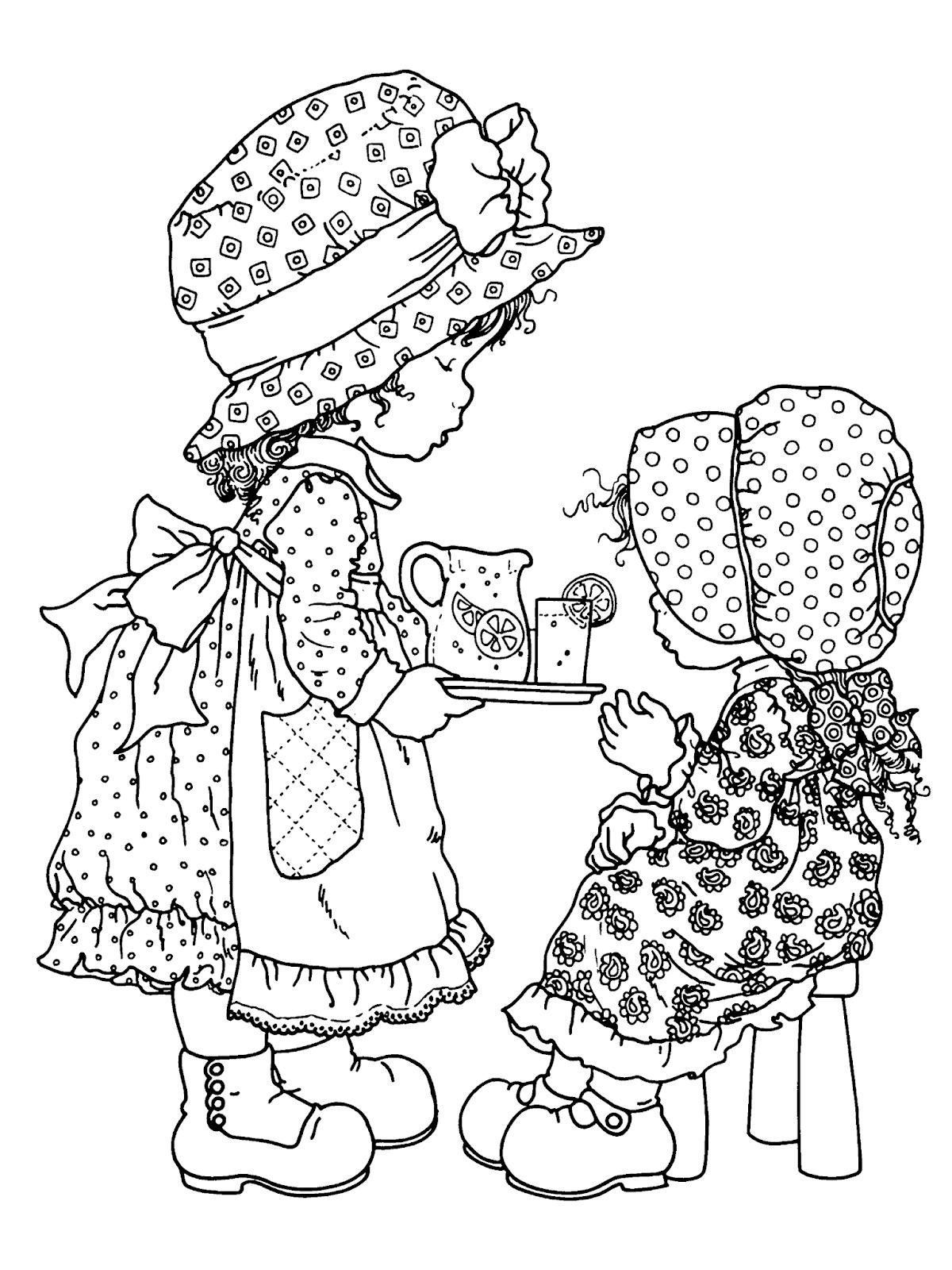 Desenhos de Sarah Kay para imprimir e colorir