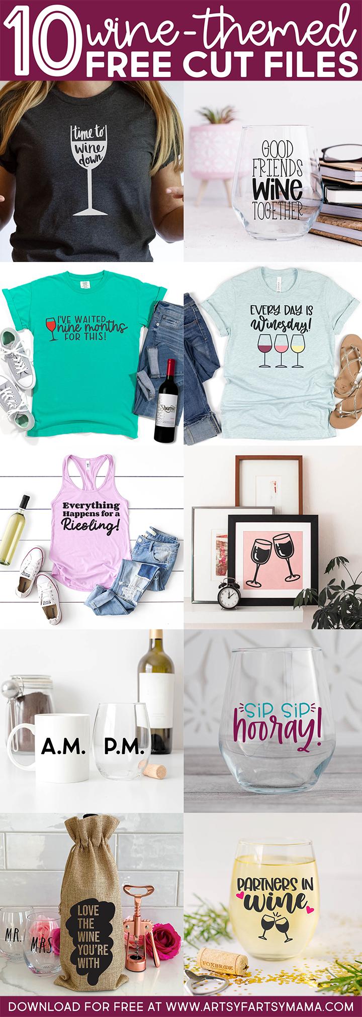 10 FREE Wine SVG Cut Files