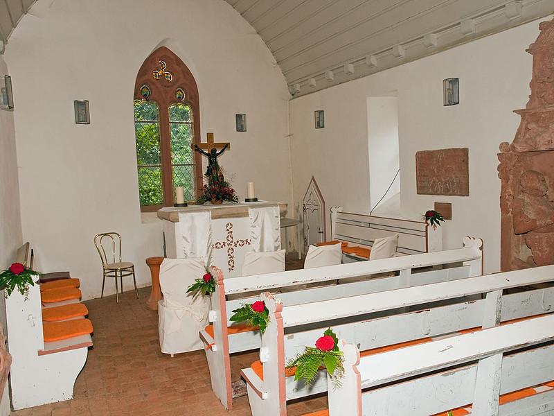 The interior of Frankenstein Castle Chapel