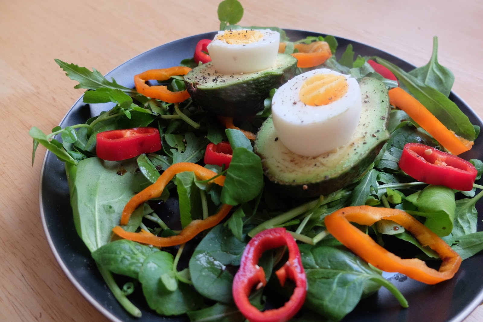 avocado eggs and salad breakfast recipe raw rhubarb