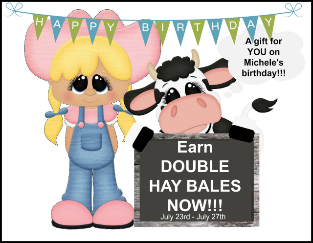 Double Hay Bales, Free Stamps, Stampin Up, Party