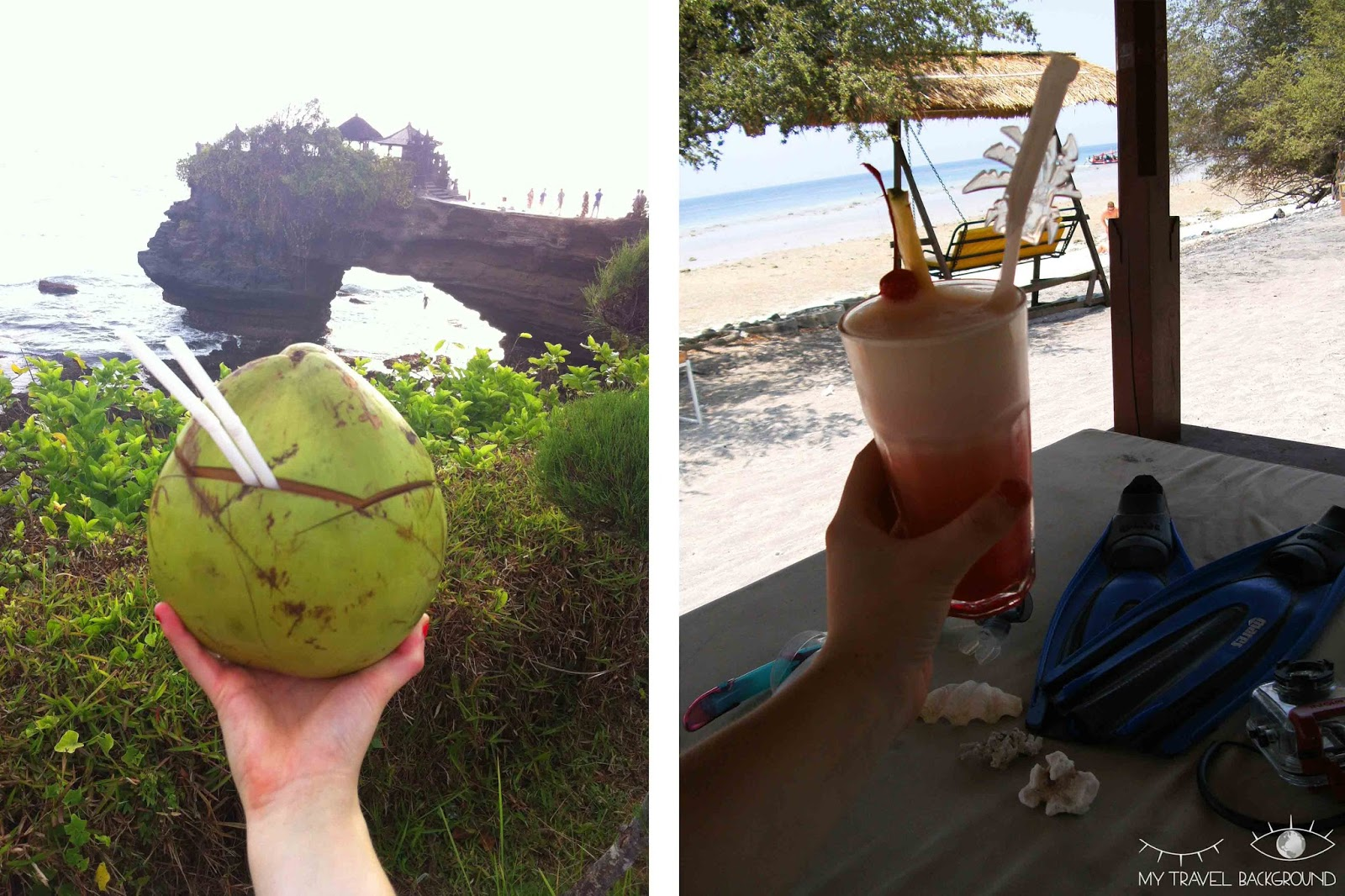 My Travel Background : Where To Bali et Gili T - Des cocktails et des noix de coco !