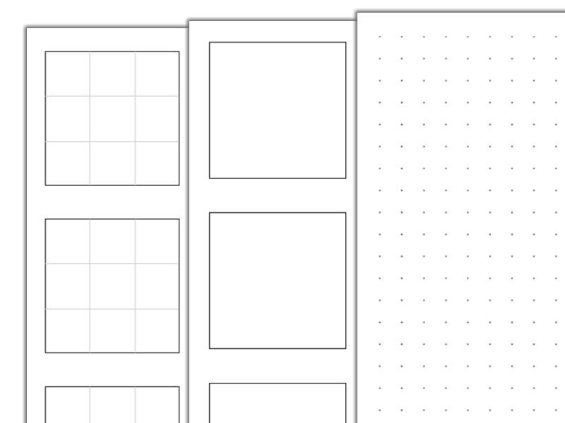 Karty do rysowania wzorów Zentangle