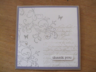 Embossed Stampin' Up! thank you card