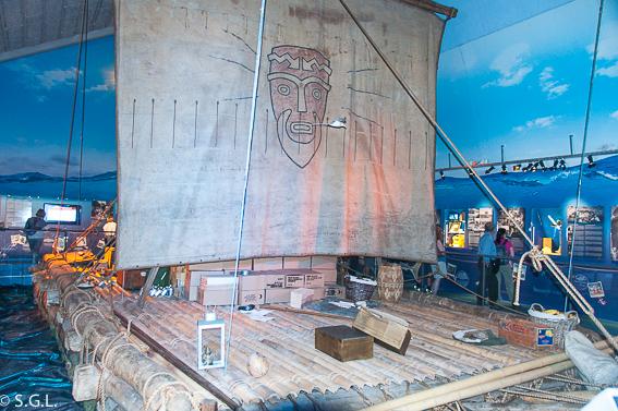 Balsa del museo Kon Tiki en Olso
