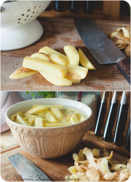 Gestiftelte Kartoffeln für Ofenpommes