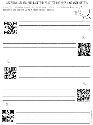 qr codes writing narrative
